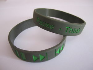 Pause Button Therapy Wrist Bands